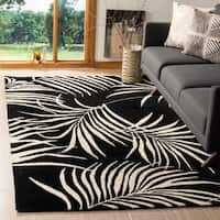Safavieh Handmade New Zealand Wool Ferns Black Rug - 8' x 10'