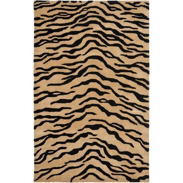 Safavieh Handmade New Zealand Wool Terra Brown Rug - 7'6 x 9'6