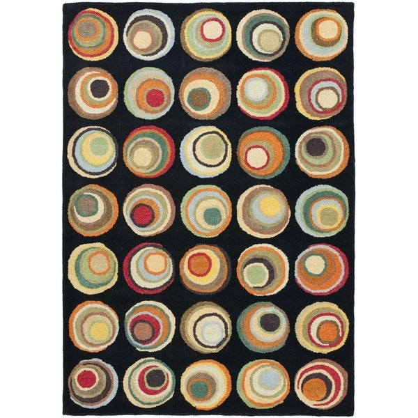 Safavieh Handmade Soho Modern Abstract Black/ Multi Wool Rug (6' x 9')