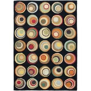 Safavieh Handmade Soho Modern Abstract Black/ Multi Wool Rug (8' 3 x 11')