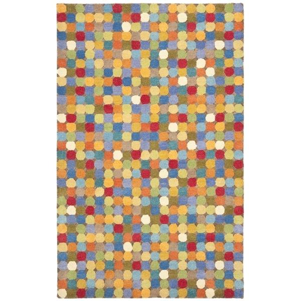 Safavieh Handmade Soho Modern Abstract Brown/ Multi Wool Rug (8' 3 x 11')