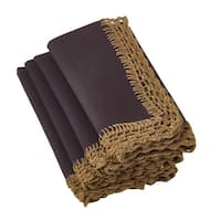 Crochet Lace Olive Napkins (Set of 4)