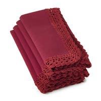 Crochet Lace Brick Napkins (Set of 4)