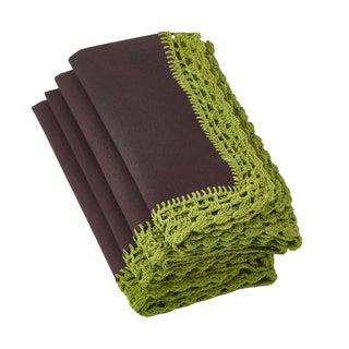 Crochet Lace Apple Napkins (Set of 4)