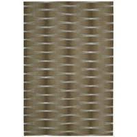 Nourison Hand-tufted Moda Brown Geometric Rug - 5'6 x 7'5