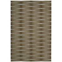 Nourison Hand-tufted Moda Brown Geometric Rug - 3'6 x 5'6