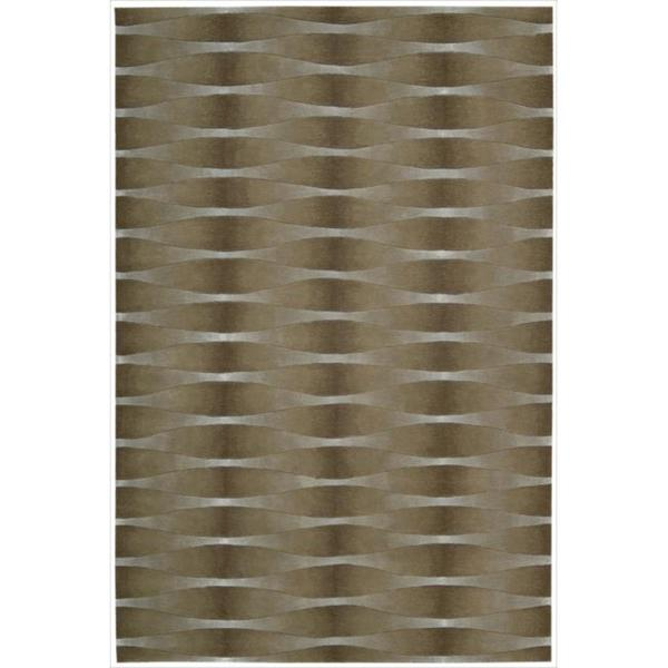 Nourison Hand-tufted Moda Brown Geometric Rug (3'6 x 5'6)