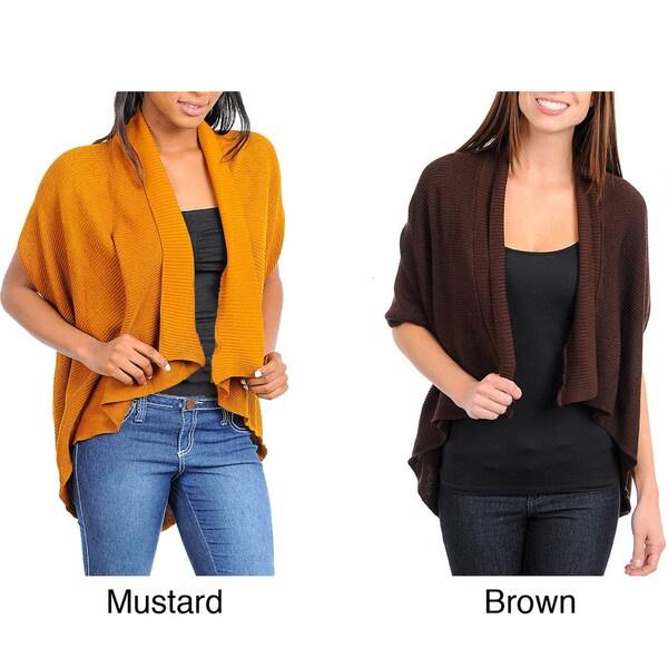 Stanzino Women's Asymmetric Hem Open Front Acrylic Sweater