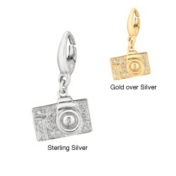 Sterling Silver Diamond Camera Charm