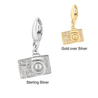 Sterling Silver Diamond Camera Charm