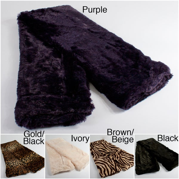Grand Bazaar Faux Fur in Brown Beige