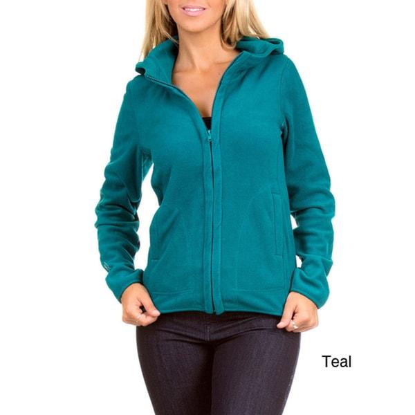 Stanzino Women's Zip up Basic Fleece Hoodie
