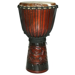 World Tribal 10-Inch Djembe Drum (Indonesia)