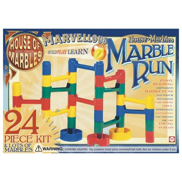 Plastic Marble Run Kit (24 pieces)