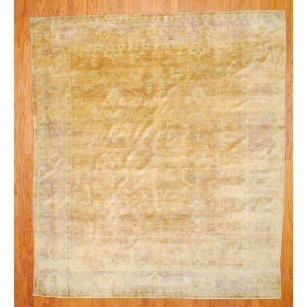Indo Hand-knotted Oushak Rust/ Gold Wool Rug (8' x 10')