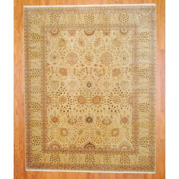 Herat Oriental Indo Hand-knotted Tabriz Wool Rug (8' x 10')