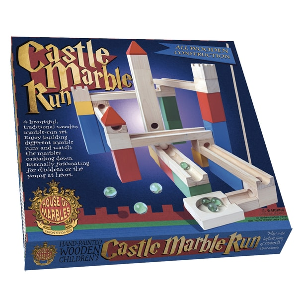 Wooden Castle Marble Run Game