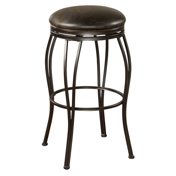 Rockvale 30-inch Coco Leather Swivel Bar Stool