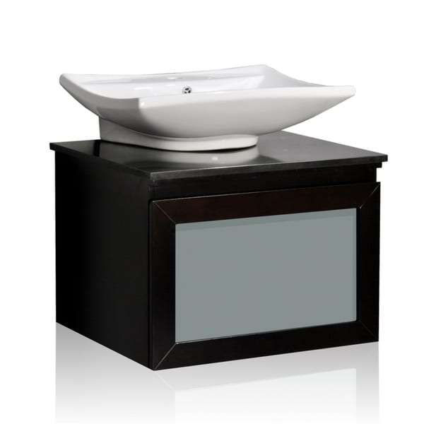 Shop Belmont Decor Newport Single Vessel Sink Bathroom Vanity