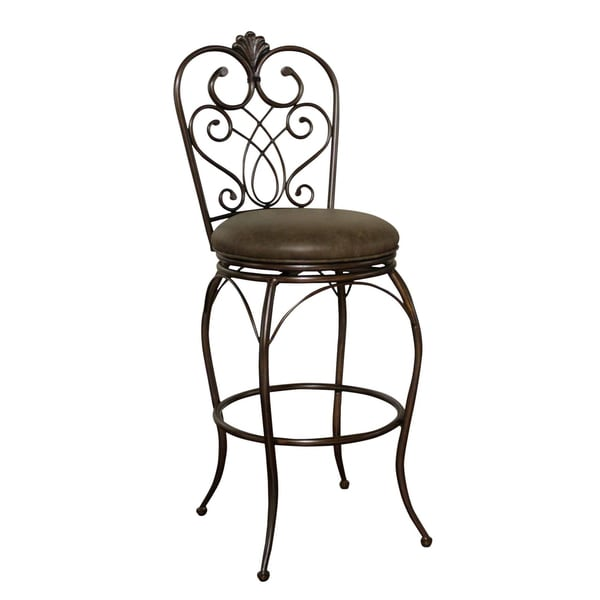 Sierra Clay Leather Swivel Counter Stool