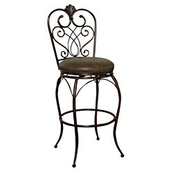 Sierra 30-inch Clay Leather Swivel Bar Stool