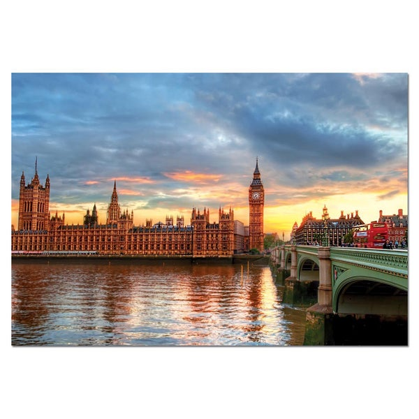 HDR Sunset on the River Thames 1000 Piece Puzzle