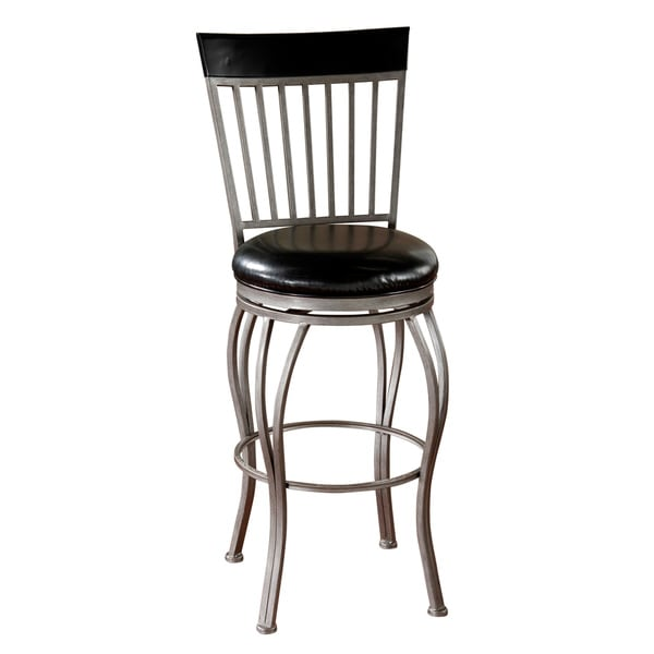 Tifton 26-inch Cobalt/ Black Leather Swivel Counter Stool