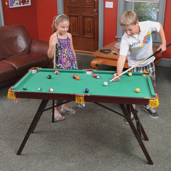 Voit 48 Inch Mini Pool Table With Accessories   Free Shipping Today    Overstock.com   14756449