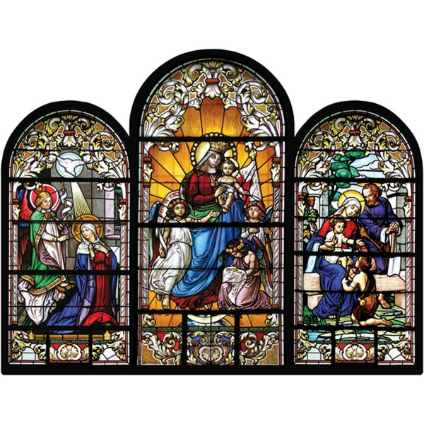 Shop Jigsaw Shaped Puzzle 500 Pieces Stained Glass