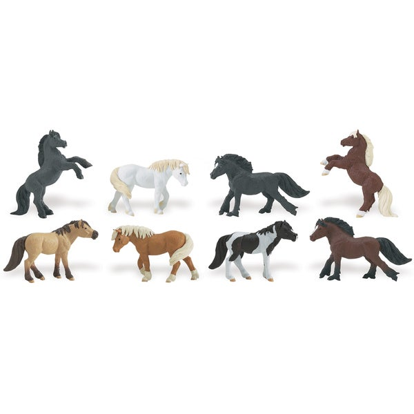 Ponies Plastic Miniatures In Toobs