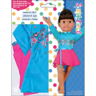 Springfield Collection Pink/Blue Leotard and Skirt