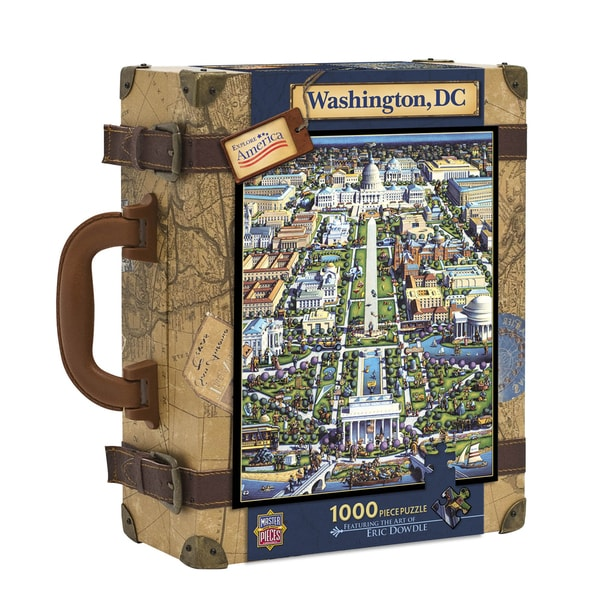 Explore America Washington, DC Suitcase Puzzle: 1000 Pcs