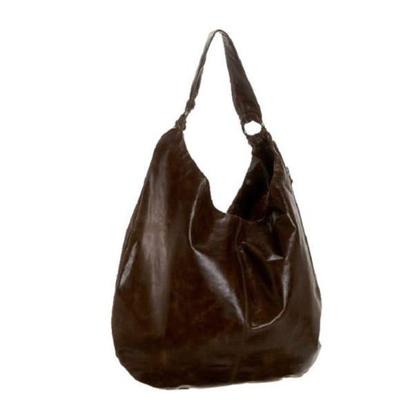 Hobo International Gabor Mocha Leather Hobo Bag
