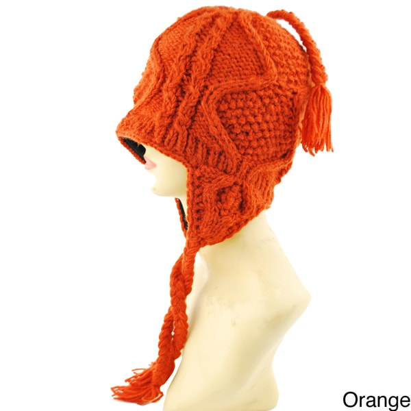 Handmade Wave Knit Winter Hat (Nepal)