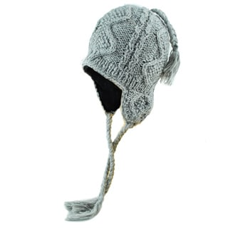 Wave Knit Winter Hat (Nepal)