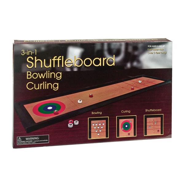 3-in-1: Shuffleboard, Bowling, Curling