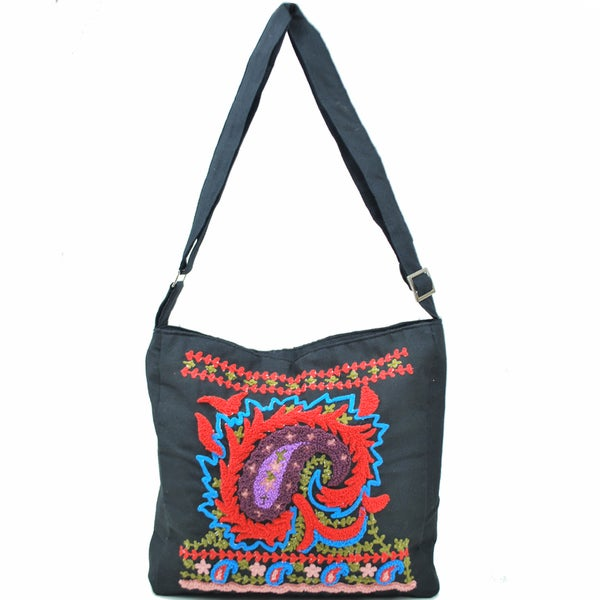 Vibrant Paisely Messenger Purse (Indonesia)