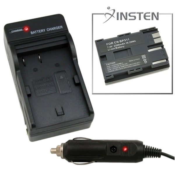 INSTEN Battery Charger/ Li-ion Battery for Canon BP-511