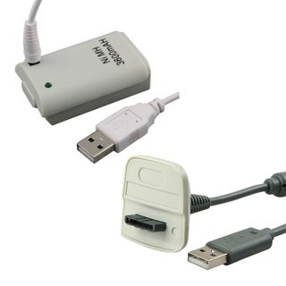 INSTEN USB Charging Cable/ Battery for Microsoft XBox 360