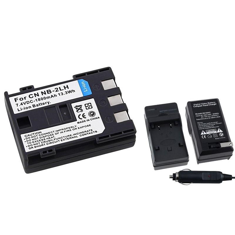 INSTEN Battery Charger/ Li-ion Battery for Canon Rebel XT/ Xti