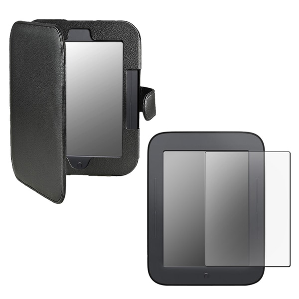 INSTEN Black Phone Case Cover/ Screen Protector for Barnes & Noble Nook 2