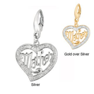 Sterling Silver 1/10ct TDW Diamond 'Mother' Heart Charm|https://ak1.ostkcdn.com/images/products/7281356/7281356/Sterling-Silver-1-10ct-TDW-Diamond-Mother-Heart-Charm-H-I-I1-I2-P14756744.jpg?impolicy=medium