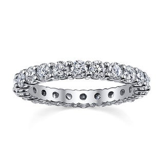 14k White Gold 2ct TDW Diamond Eternity Wedding Band