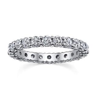 14k White Gold 2ct TDW Diamond Eternity Wedding Band (H-I, SI1-SI2)