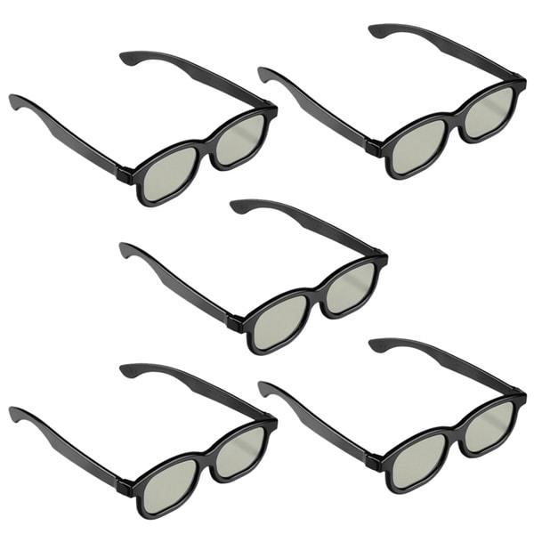 BasAcc Black 3D Glasses (Pack of 5)