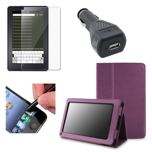 BasAcc Case/ Screen Protector/ Charger/ Stylus for Amazon Kindle Fire