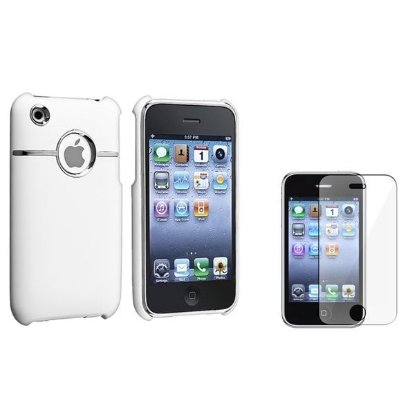 BasAcc White Case/ Screen Protector for Apple iPhone 3G/ 3GS