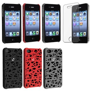 BasAcc Black/ Smoke Case/ Screen Protector for Apple® iPhone 4/ 4S