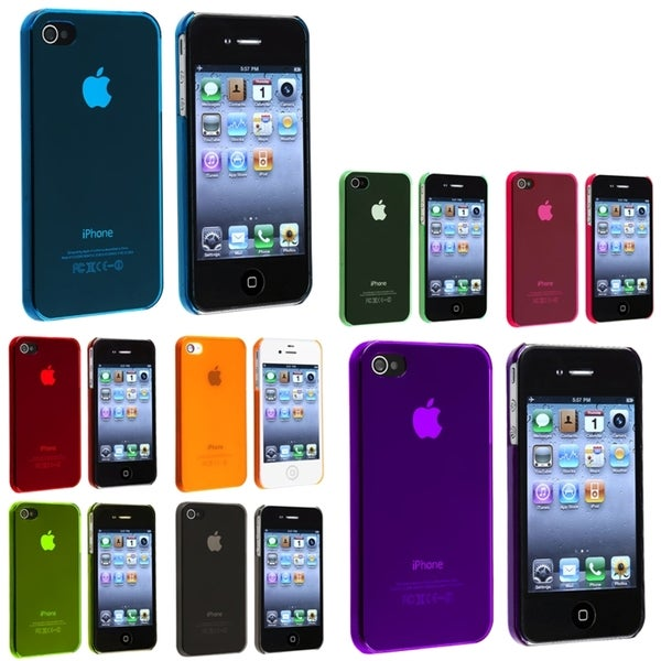 BasAcc Smoke/ Pink/ Green/ Blue/ Red Slim Case for Apple® iPhone 4/ 4S