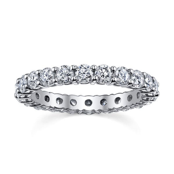 14k White Gold 2ct TDW Diamond Eternity Wedding Band (H-I, I1-I2)